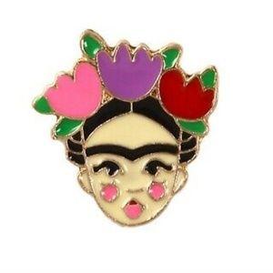 Jewelry - Frida Kahlo Enamel Pin